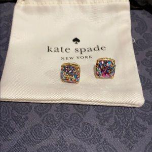 Kate Spade multi color glitter earrings